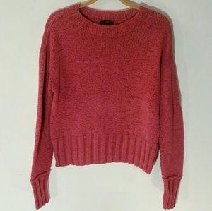 Small J.Crew Mauve Pink Crewneck Crop Fit Sweater